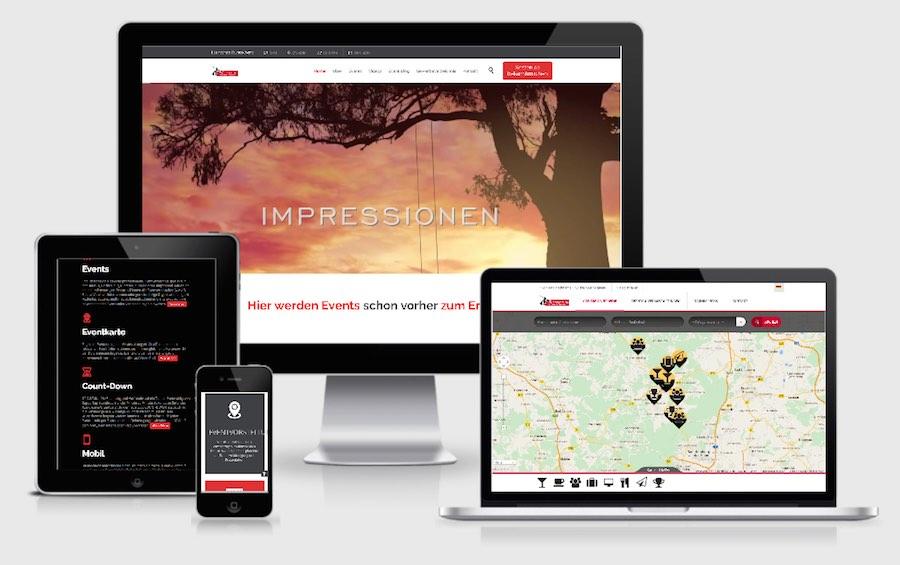 Homepage Webdesign für Events & Veranstaltungen