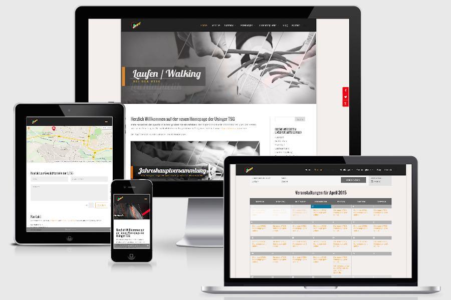 Homepage Webdesign für Vereine