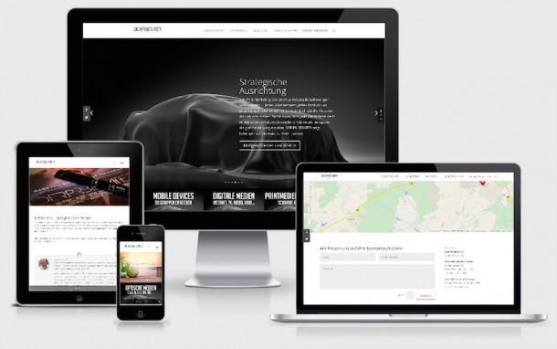 Homepage Webdesign für Unternehmensberatung