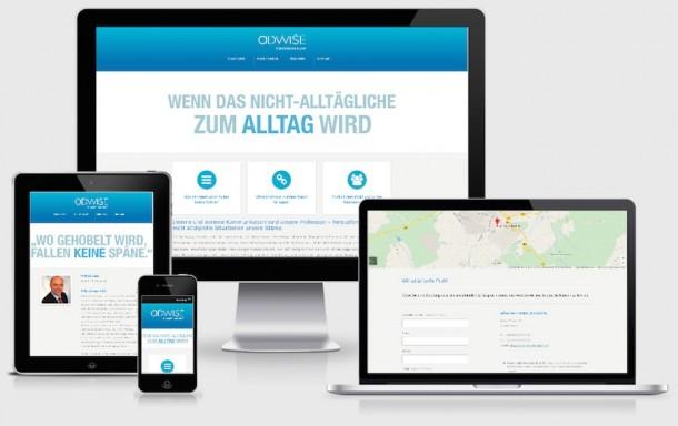 Homepage Webdesign für Consulting