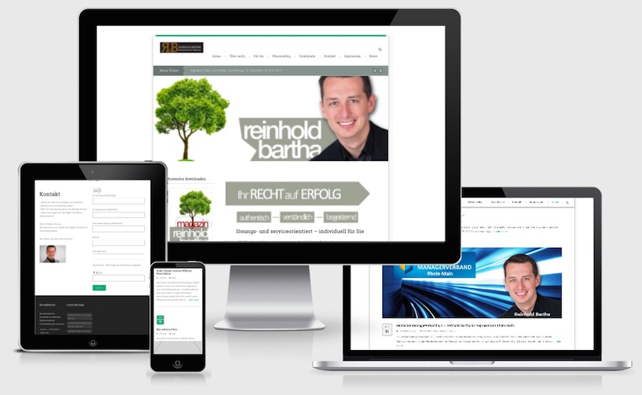 Homepage Webdesign für Seminare und Coaching