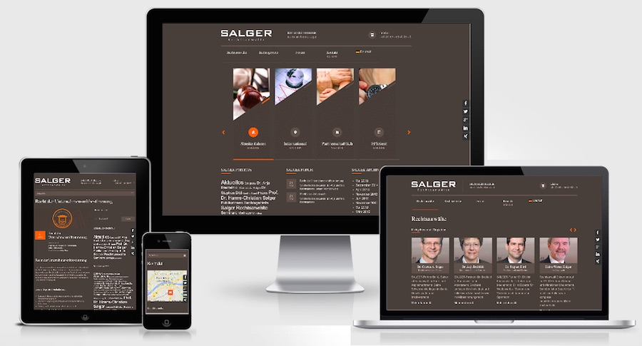 Homepage Webdesign für Rechtsanwälte & Kanzleien