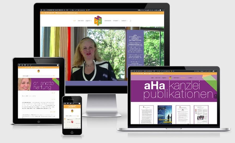 Homepage Webdesign für Personen und Dienstleistung