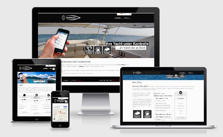 Homepage Webdesign für Yachten und Boote