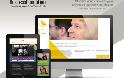 Mit eigenen Fotos und Videos zur neuen responsiven Business-Homepage