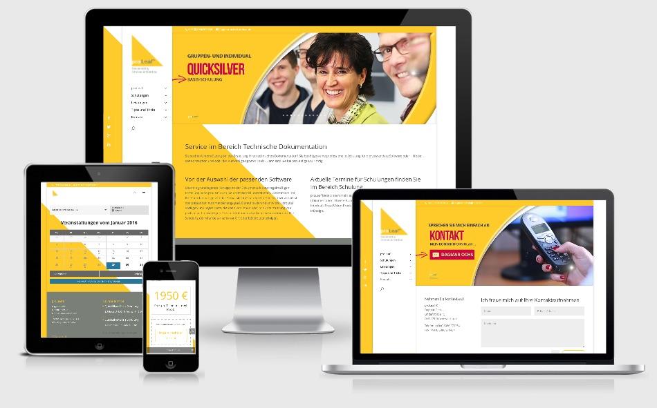 Responsive Video-Homepage für Schulungen und Seminare