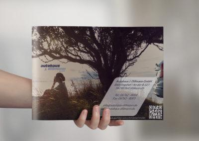 Autohaus-Broschüren-Design-Rückseite-Kontaktdaten
