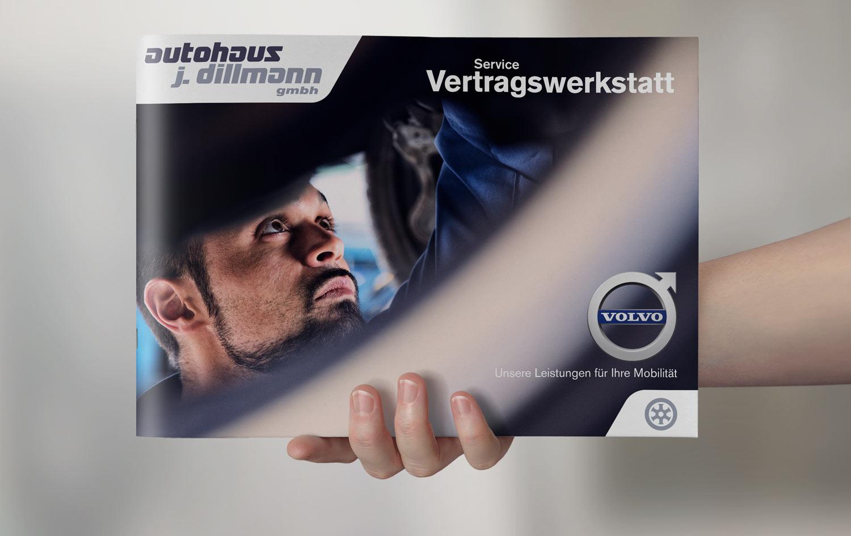 Autohaus Imagebroschüre erstellen -Design für Volvo