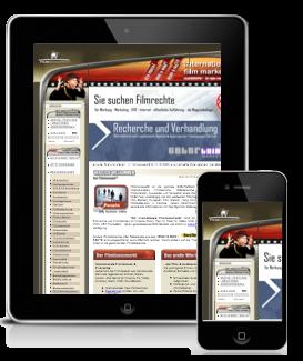 Falsche Darstellung einer Website mobilen devices