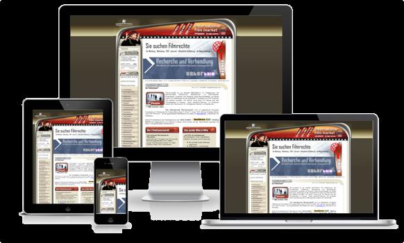Starre Website Darstellung auf mobilen devices