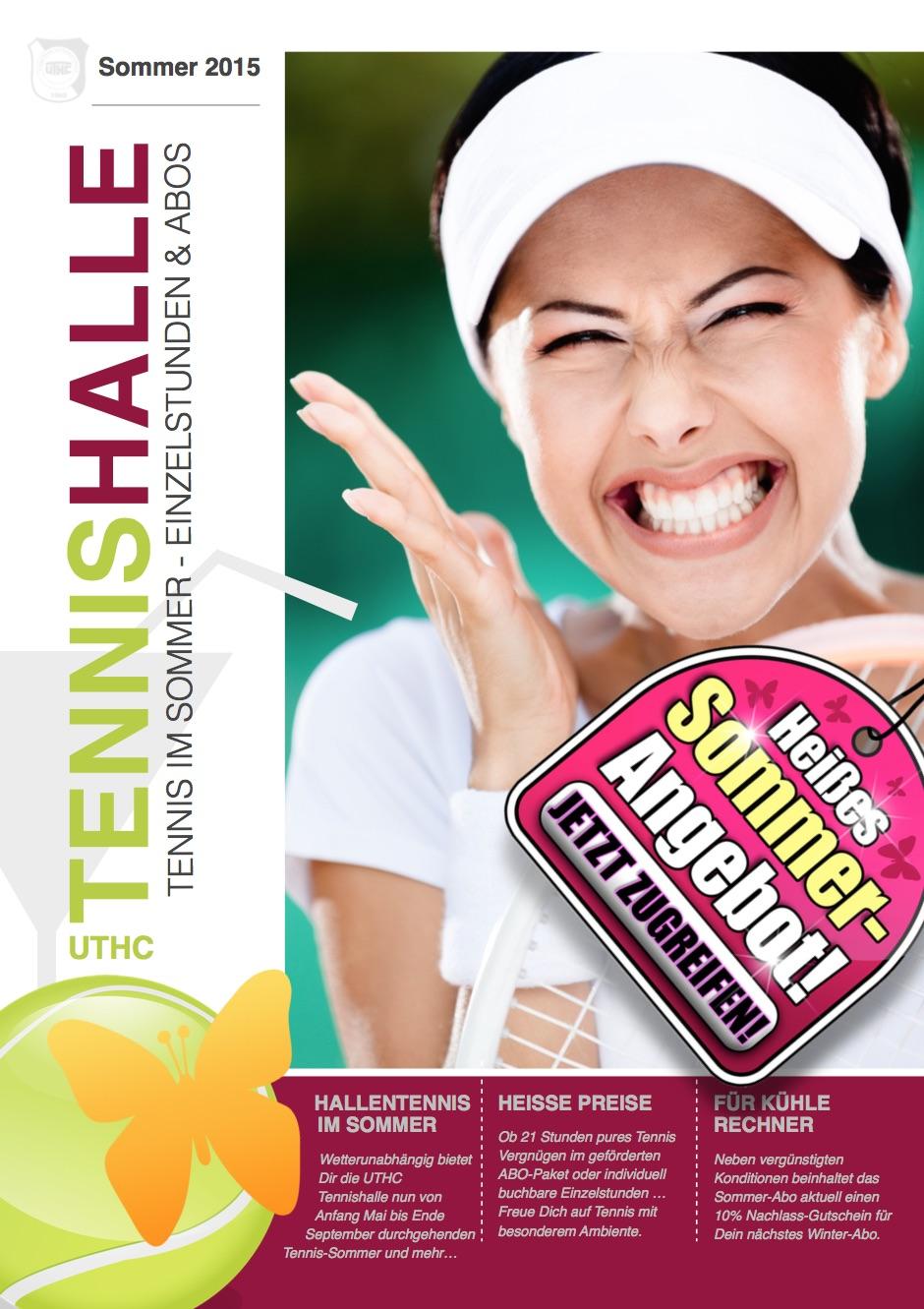 Tennis-Broschüre für Tennishalle vom PR-Berater 01