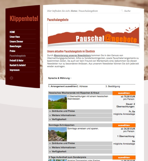 Onlinebuchung-fuer-Pauschalangebote-mobile-Hotel-Webseite