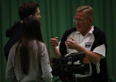 PR Berater Dirk Rabis - Interview Fotoshooting bei SAT.1 Dreharbeiten