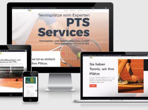 Neue Webseite für PTS-Tennisplatzservice