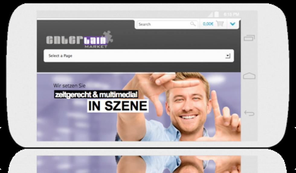 Online-Check: Darstellung einer Domain oder Website auf mobilen devices und Endgeräten.