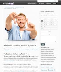 Webseiten skalierbar, flexibel und dynamisch.. Beispiel Desktop Ansicht