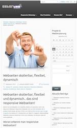 Webseiten skalierbar, flexibel und dynamisch.. Beispiel skallierte Ansicht