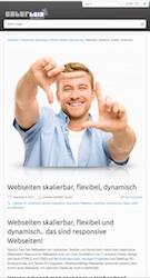 Webseiten skalierbar, flexibel und dynamisch.. Beispiel Tablet Ansicht