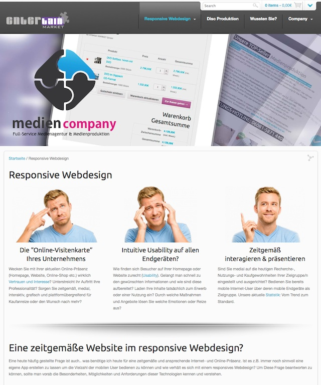 Responsive Webdesign Beispiele - Responsive Website