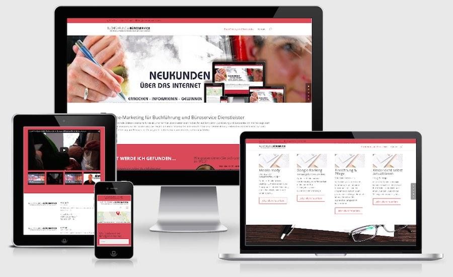 Homepage Webdesign für Büroservice und Buchführungsservice