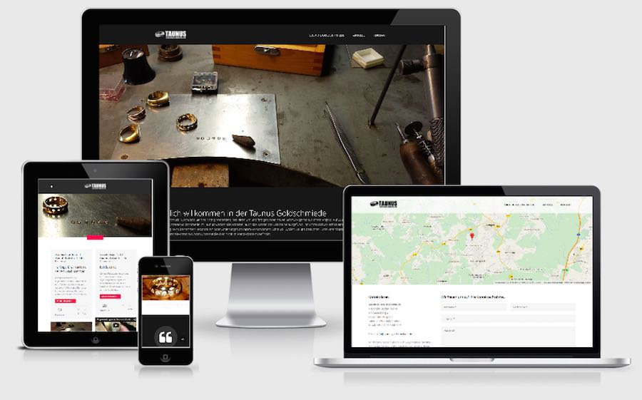 Homepage Webdesign für Goldschmiede & Juweliere
