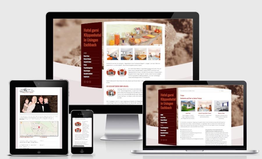 Homepage Webdesign für Hotels und Pensionen