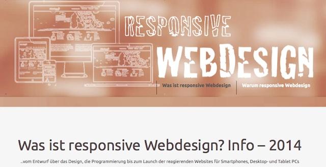 Was ist responsive Webdesign? Funktion Beispiele