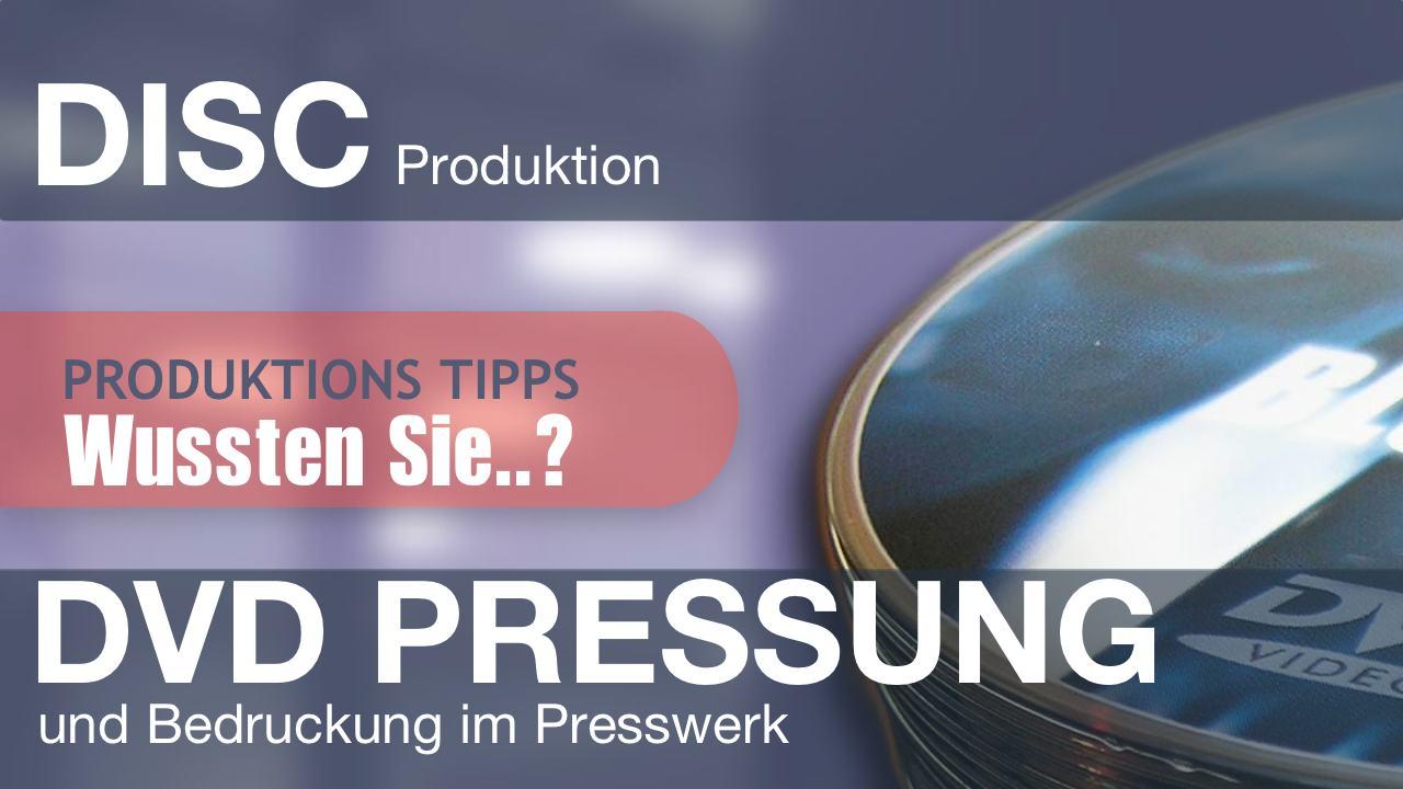 DVD Pressung und Bedruckung