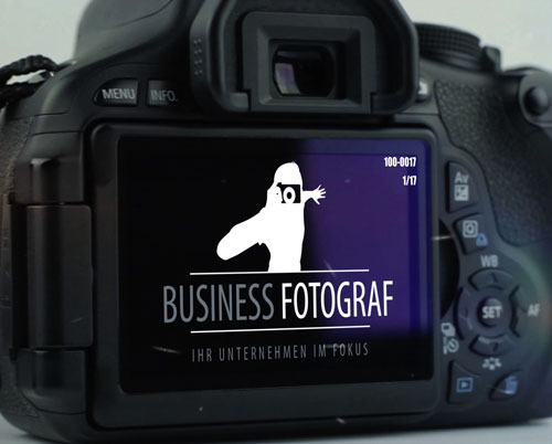 BUSINESS FOTOGRAF LOGO im Kameradisplay