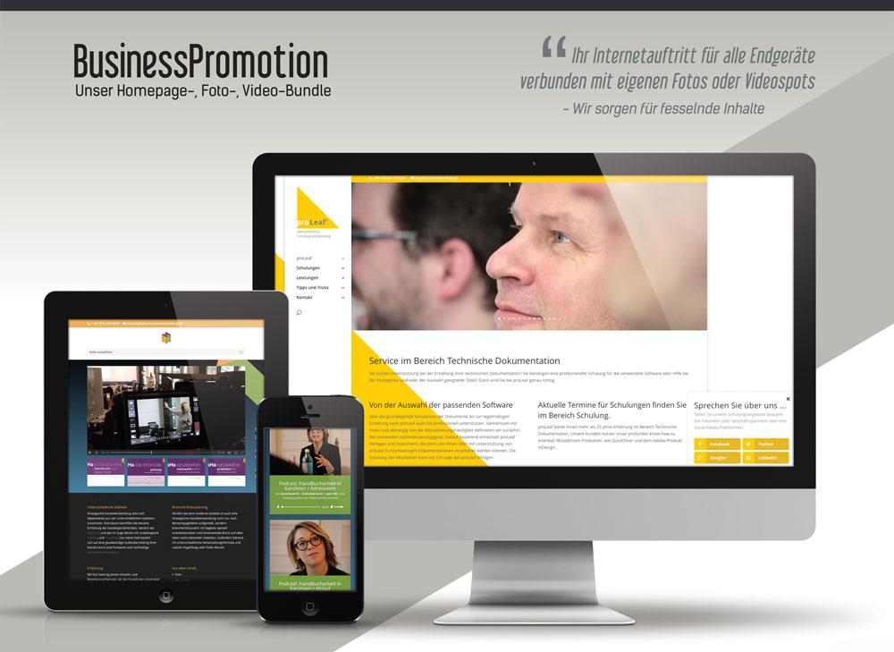 Die neue Foto-, Video, Erlebnis-Homepage für Unternehmen: Tipp 1