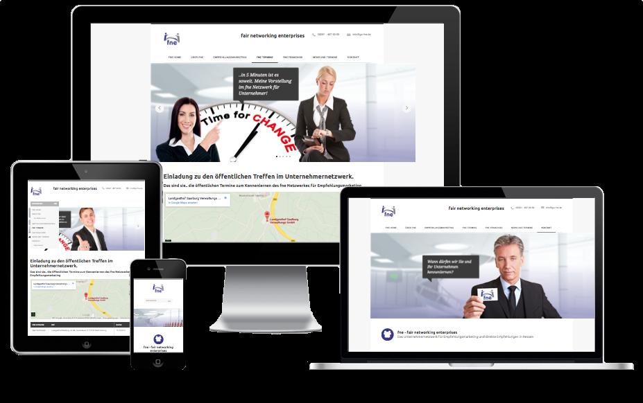 fne Unternehmernetzwerk erhält responsive Homepage
